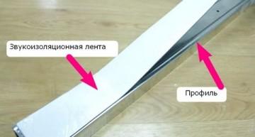 использование звукоизоляционной ленты