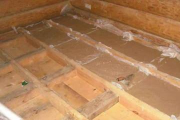 шумозащита пола в деревянном доме