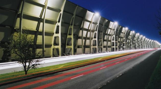 шумозащитные экраны с интегрированными солнечными панелями